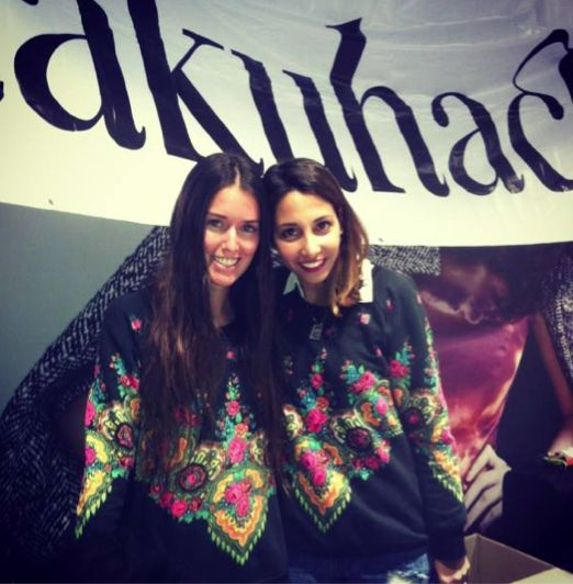 Our Sales Manager, Connie twin dressing* with Stef from How Two Live in our Gypsy Sweater Dress. Available for pre order online now - www.shakuhachi.net x