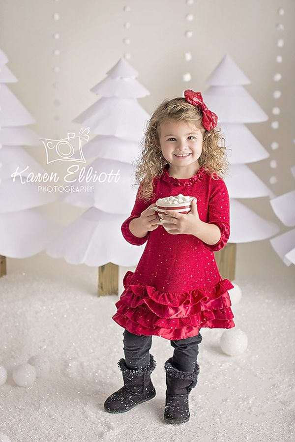 Christmas Photography Backdrop | White Paper Trees                              …