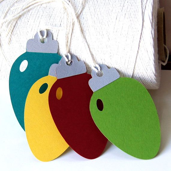 Christmas Lights Tags in Red Clover Peacock and Curry by scrapbits, $3.00