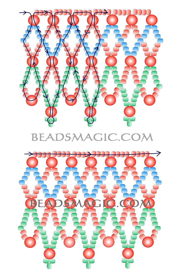 Free pattern for necklace Russo