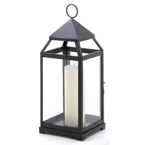 Contemporary candle lantern in an impressive size and simple shape. This sleek metal candle lantern lends a clean, contemporary feel to any surrounding. Weight