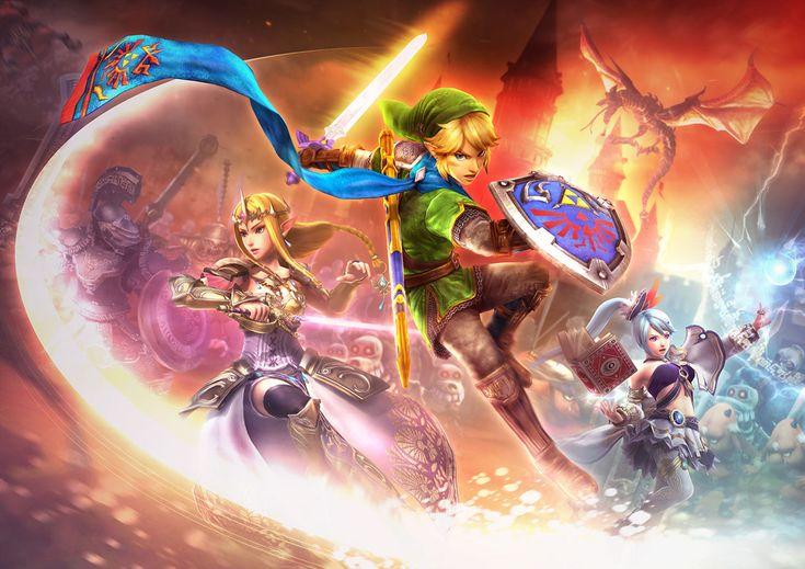 Key Artwork | Hyrule Warriors | The Legend of Zelda | Link, Princess Zelda, and Lana