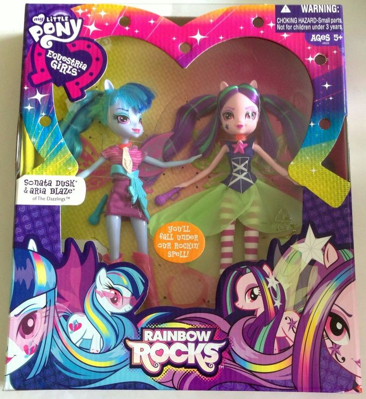 My Little Pony Equestria Girls Rainbow Rocks Aria Blaze and Sonata Dusk Fashion Doll 2-Pack  #Hasbro