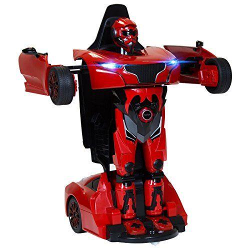 Rastar RS X MAN Transformer - Kinder Spielzeug-Auto & Roboter 2in1 mit Fernsteuerung - lizenziert - 3 Farben erh�ltlich - Rot