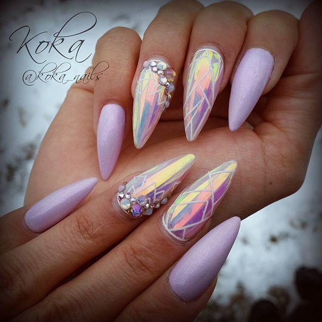 Nail art  Nails  Beauty  Acrylic  Glitter