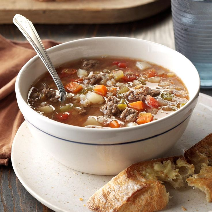 Beef Barley Lentil Soup Recipe -I serve this soup often to family and friends on cold nights, along with homemade rolls and a green salad. For variety, you can substitute jicama for the potatoes. —Judy Metzentine, The Dalles, Oregon