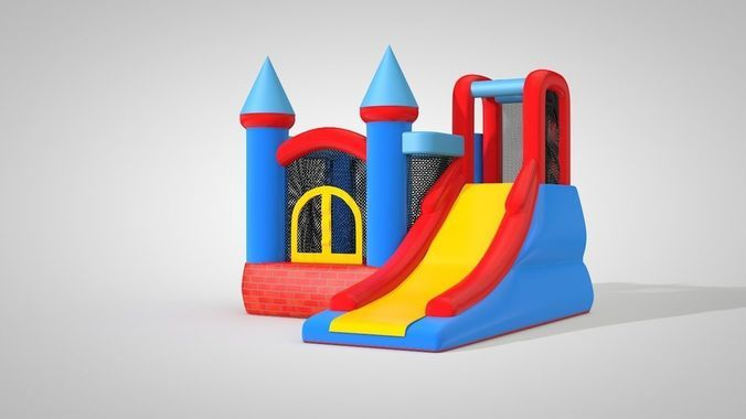 3D model of a kids trampoline | 3D model