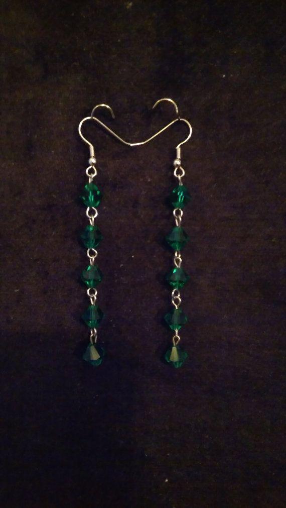Emerald Green Dangle Earrings