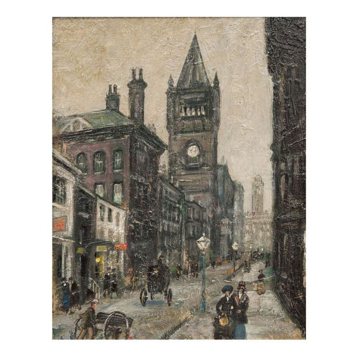 Manchester Cathedral Street Scene by Arthur Delaney.