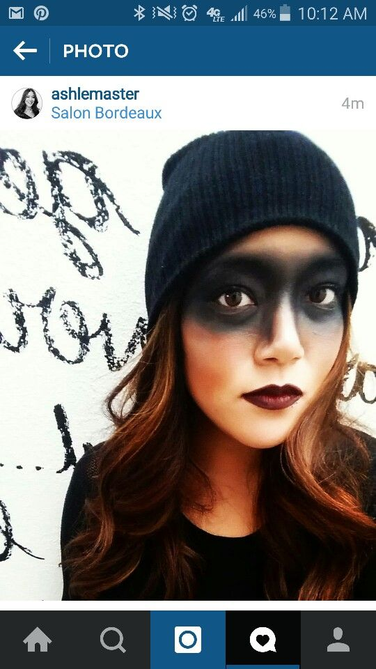 Robber mask makeup #halloweenmakeup                                                                                                                                                                                 More