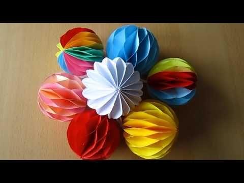 DIY: Deko-Kugel aus Papier / Decoration ball paper - YouTube