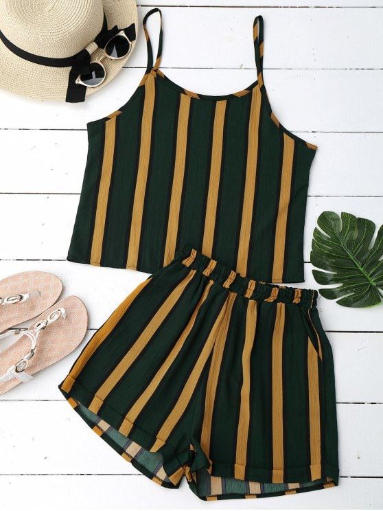 Up to 80% OFF! Cami Striped Top With Shorts. #Zaful #TwoPieces zaful,zaful outfits,zaful dresses,spring outfits,summer dresses,Valentine's Day,valentines day ideas,cute,casual,classy,lace,mesh,fashion,style,bottoms,shorts,jumpsuits,rompers,playsuits,playsuit outfit,dressy jumpsuits,playsuits two piece,two piece outfits,two piece dresses,dresses,printed dresses,sundresses,pants,wide leg pants, pants outfits,pantsuits,shorts,shorts outfits,shorts and tights @zaful Extra 10% OFF Code:ZF2017