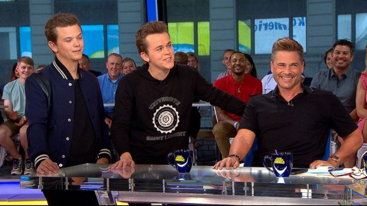 """Actor and self-proclaimed """"adrenaline junkie"""" Rob Lowe and his two sons joined """"GMA"""" to discuss the actor's latest antics and their new TV show, """"The Lowe Files.""""   Lowe recently shared a video of himself paddleboarding alongside two great white... - #Adrenaline, #Junkie, #Lowe, #Rob, #Selfadmitted, #TopStories"""