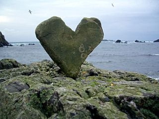 Happy Valentine's Day   stone on South Harbour Beach, Fair Isle... HOW COOL