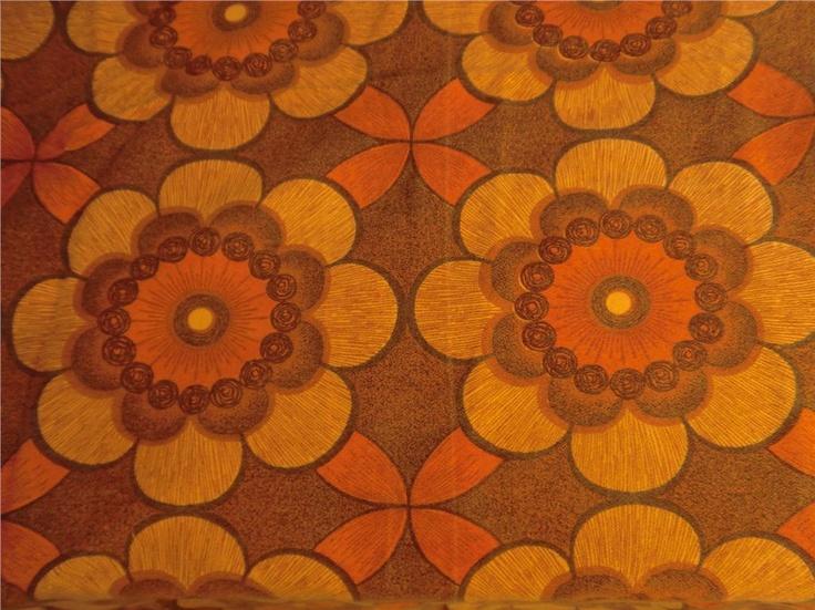 RETRO gardiner Tyg 70-tal sy till barn orange färgglatt på Tradera.