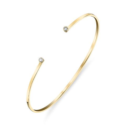GABRIELA ARTIGAS Double Diamond Gold Cuff Bracelet – KAVUT