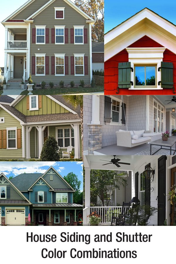 House Siding And Shutter Color Combinations House Shutter Colors Shutter Colors Exterior House Colors Combinations