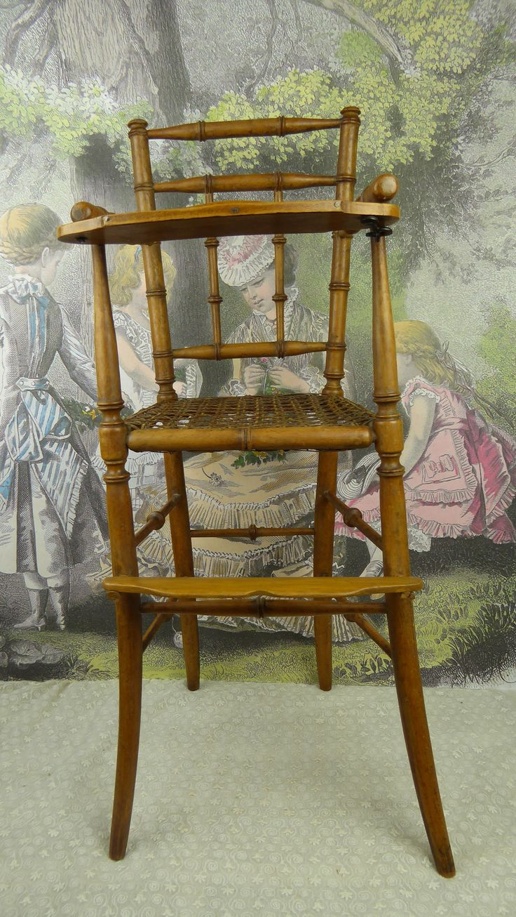 Antique high chair bentwood - Wonderful Original Antique French Faux Bamboo Dolls Armed High Chair From Stairwaytothepast On Ruby Lane