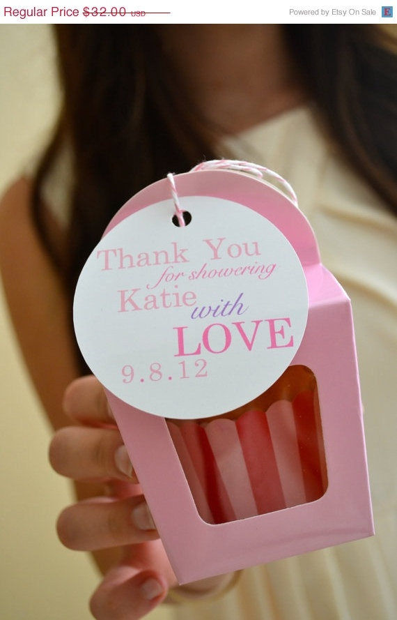 craft ideas for bridal shower favors%0A ON SALE Baby or Bridal Shower Favor Tags    by EatPlanLoveShop