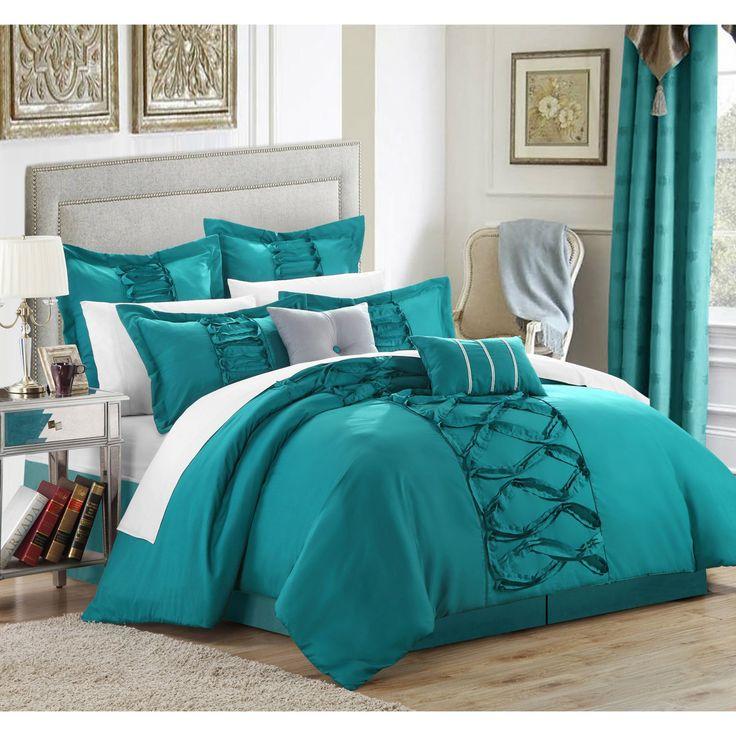 Chic Home Ruth Ruffled Comforter Set - CS1913-BIB-HE