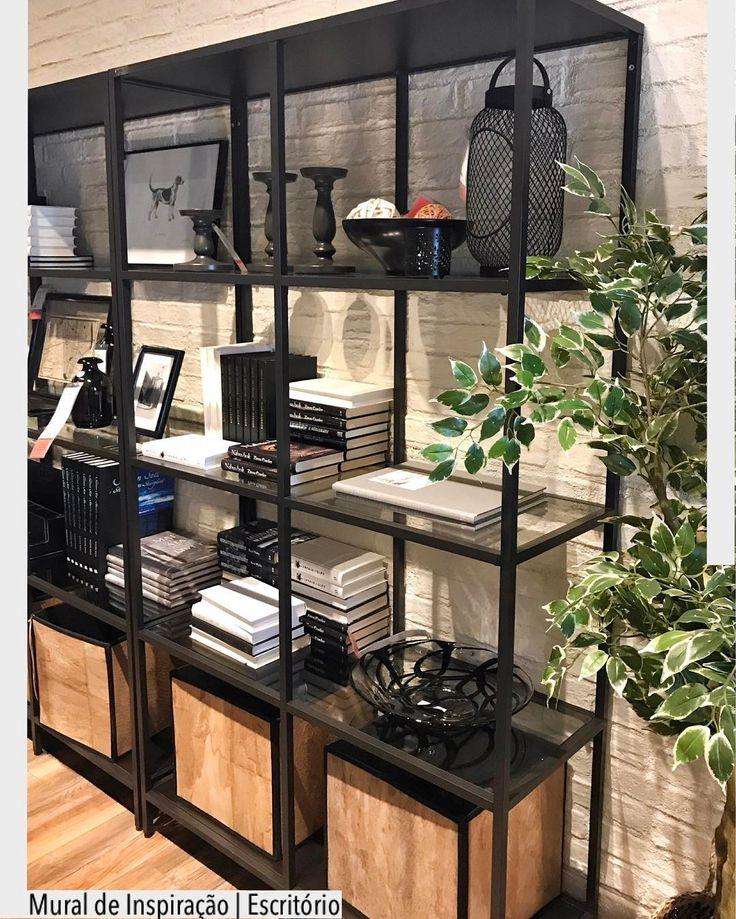 """1,354 Likes, 12 Comments - ArquiteturadeCoração (@arquiteturadecoracao) on Instagram: """"A estantes vazada multifuncionais recebeu tanto livros como adornos. Cantinho da loja Ikea Madrid…"""""""
