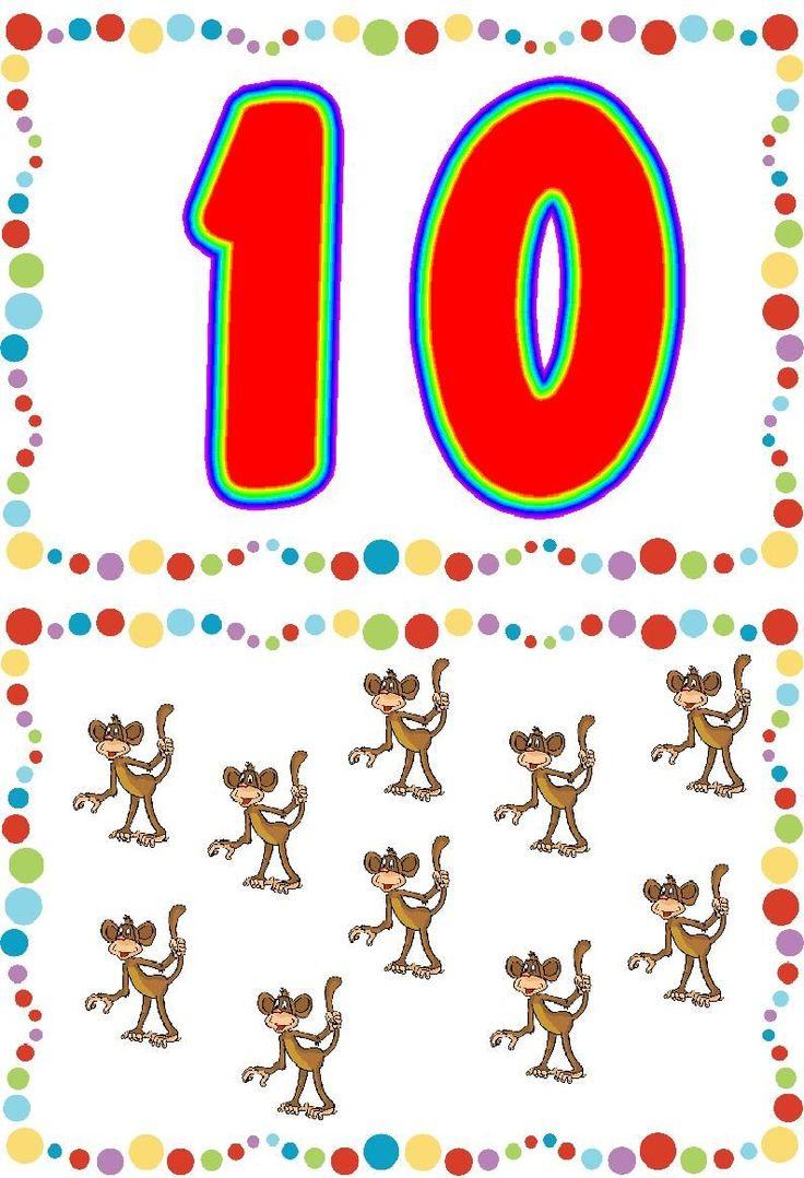* Vrolijke cijferkaarten! 10-10