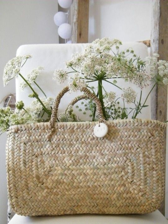Fabulous Basket Holding Queen Anne's Lace