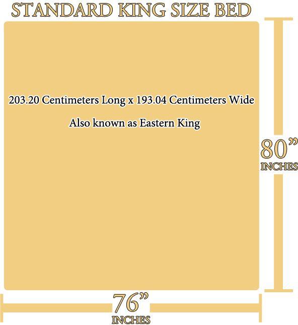 Standard King Size Bed Dimensions #kingsizebeddimensions #standardking