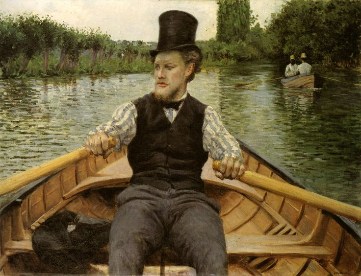 Gustave Caillebotte - Oarsman In A Top Hat (The Boating Party) 1878