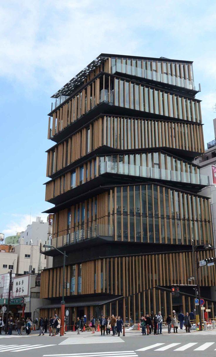 Kengo Kum building in Tokyo