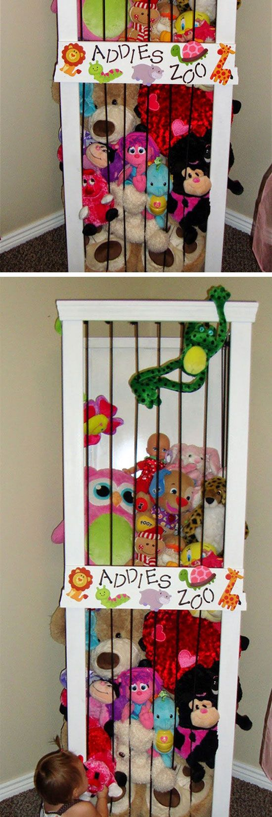 Stuffed Animal Zoo   DIY Toy Storage Ideas Dollar Stores   DIY Organization  Ideas for Kids36 best Storage Ideas images on Pinterest   Storage ideas  Diy  . Diy Organizing Ideas For Bedrooms. Home Design Ideas