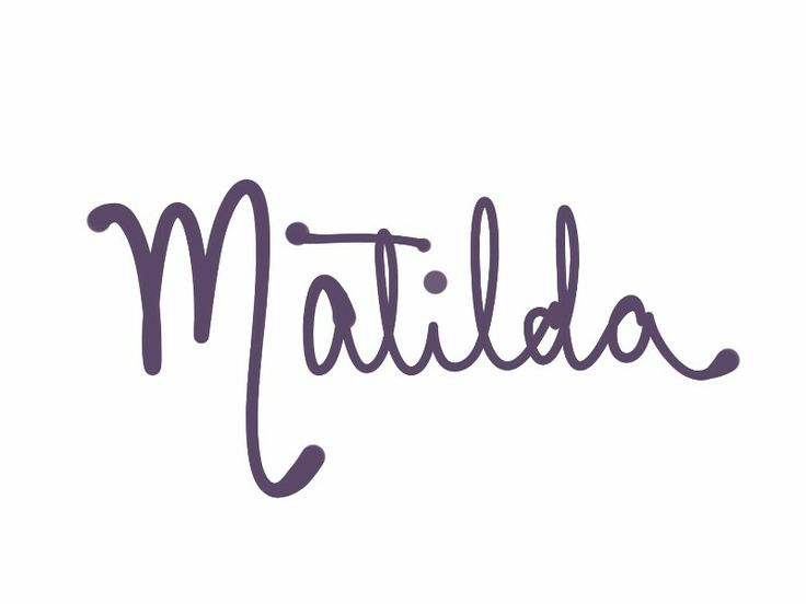 """Matilda. This one was chosen by Michelle Williams for her daughter with Heath Ledger, and of course has special meaning to Australians. From Mahthildis meaning """"strength in battle,"""" this was most popular as Maud until the Middle Ages. See more baby name pins at http://www.pinterest.com/meggiemaye/for-love-of-names/"""