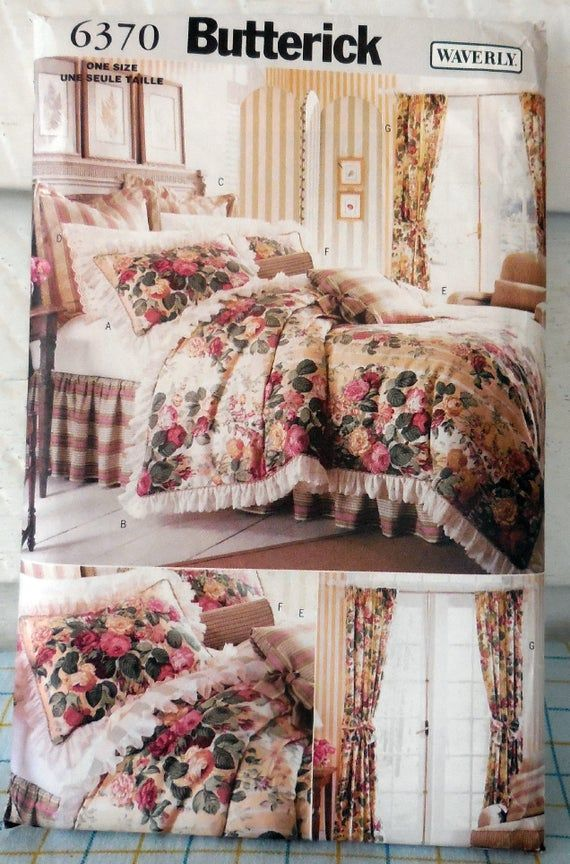 Butterck 6370 Waverly Diy Bedding Curtains Accessories Etsy Diy Bed Ruffle Duvet Cover Luxury Bedroom Decor