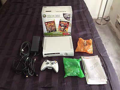 Microsoft Xbox 360 Pro 60 GB White Console (NTSC), HDMI Cable, Two Games                                                                                                                                                                                 More