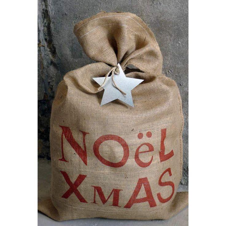 Christmas jute sack 60x100cm from Cachette via The Third Row