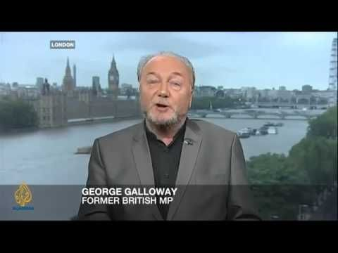 ▶ Galloway (George, Scott, ex-Brit MP) has the biggest/most heroic balls in Europe ; ) • here in interview on Iraq w/ Israel's Raanan Gissin (fmr advisor to fmr PM Ariel Sharon) 1. Galloway's not gutless like EU (which did not vote for humanity in UN Resolution Jul 23) 2. does not follow status quo / politically correct BS but Truth 3. ideal choice to dismantle Zionist! (interview 2013 Sep 20 just in time to be Sharon's last thoughts before he died 2014-01-11) 4. the most humane politician