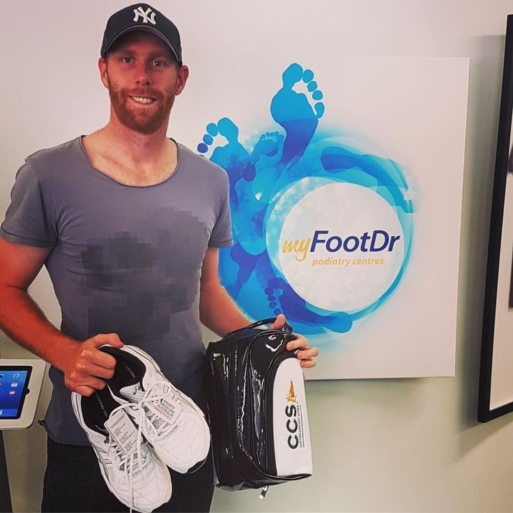 You know cricket season has started when we see the boys from @heatbbl @qldcricket #qldbulls at @myfootdr Great to see you Jason Floros
