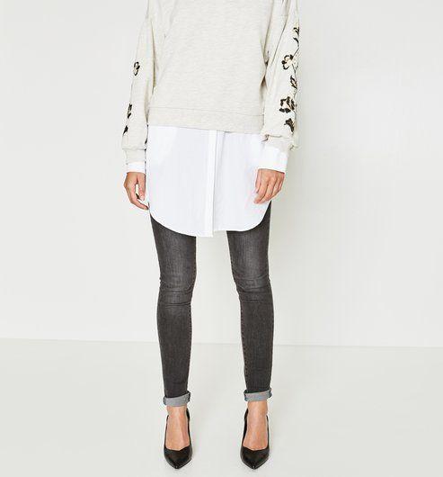 Jean skinny Femme jeans gris - Promod