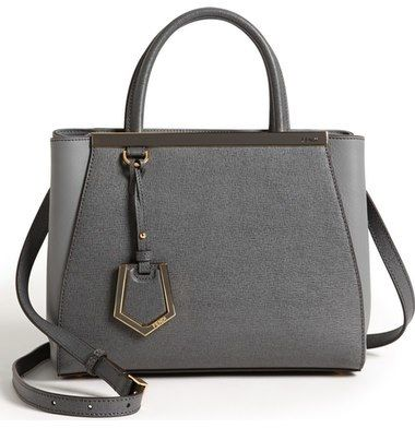 b15e4e36167 Fendi  Petite 2Jours Elite  Leather Shopper