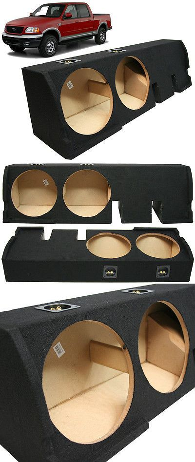 Speaker Sub Enclosures: 2001-2003 Ford F-150 Super Crew Truck Dual 12 Subwoofer Sub Box Enclosure New -> BUY IT NOW ONLY: $99.99 on eBay!