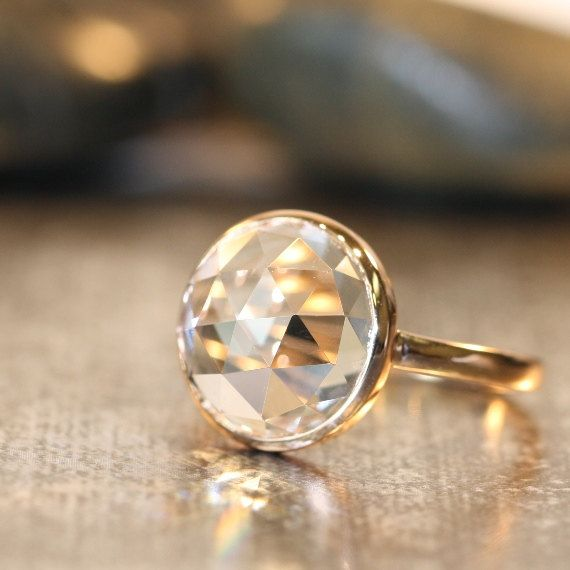 A stunning engagement ring.
