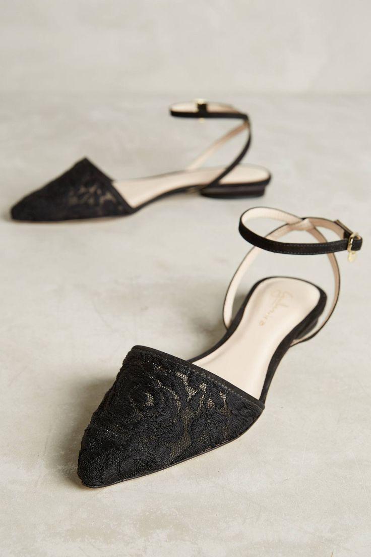 Black Lace Flats
