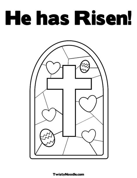 He Has Risen Coloring Page From TwistyNoodle
