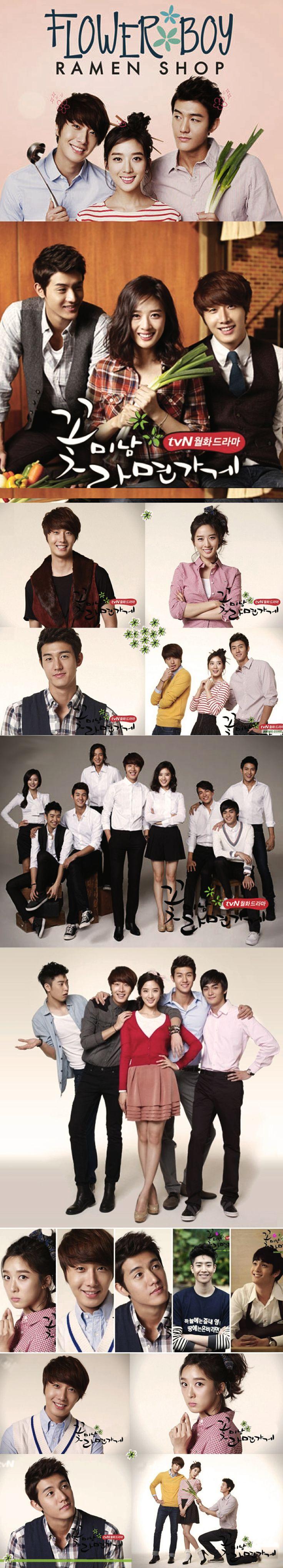Flower Boy Ramen Shop (꽃미남 라면가게) - Kdrama 2011 - 16 episodes - Jung Il-woo / Lee Chung-ah / Lee Ki-woo / Park Min-woo / Jo Yoon-woo