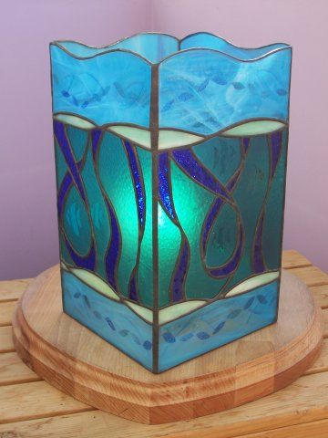 Ocean Tower Lamp Mad Bert's Contemporary Stained Glass