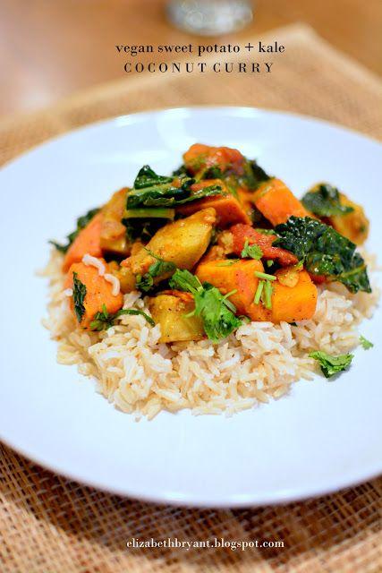 lizzy writes: vegan sweet potato kale coconut curry