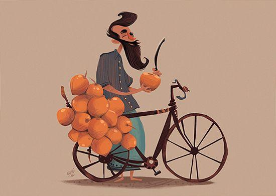 Illustrations by Isuri Merenchi Hewage | Inspiration Grid | Design Inspiration