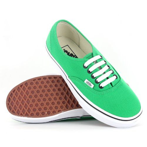 Cool Vans Authentic Green Black Womens Trainers