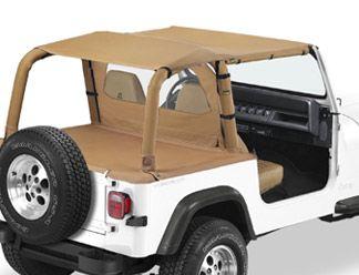All Things Jeep - Safari Bikini Top, Jeep Wrangler YJ (1992-1995), Bestop