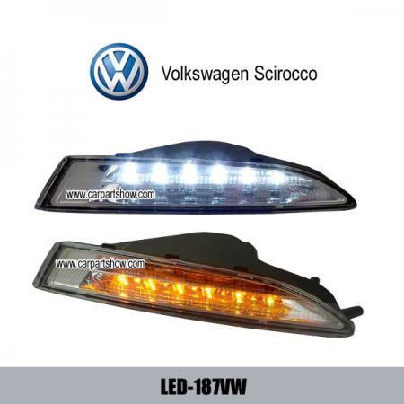VW Scirocco DRL LED Daytime luces de coche faros piezas niebla cubierta LED-187VW [1]